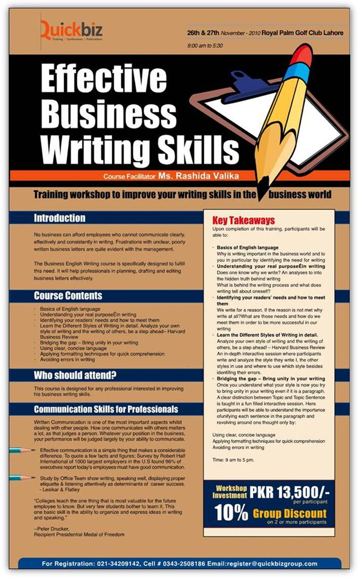 Effective business writing skills