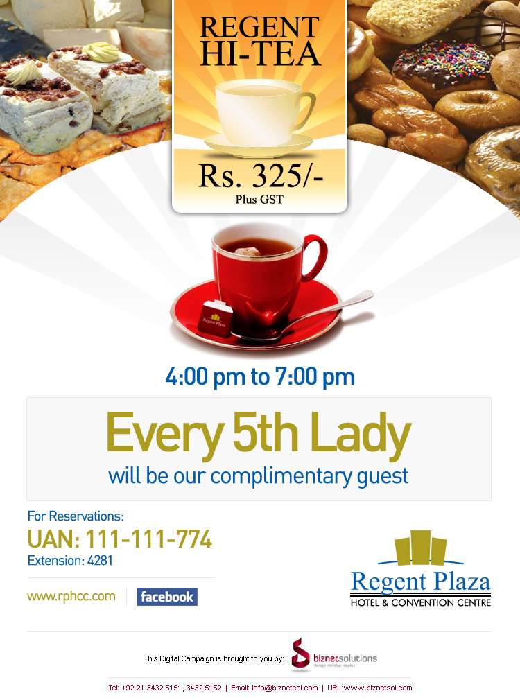 Hi tea deals in karachi